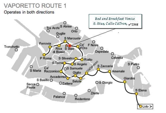 Cartina Vaporetti Venezia.Bed And Breakfast In Venice Italy Bed And Breakfast Venice